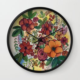 Flowers for Sam Wall Clock