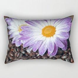 COFFEE & VIOLET DAISY Rectangular Pillow