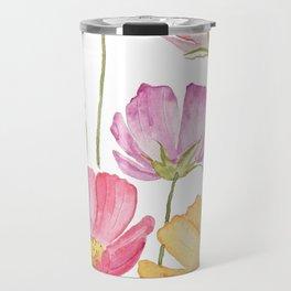 colorful cosmos flower Travel Mug