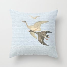 Nothing to match the flight of wild birds flying Throw Pillow