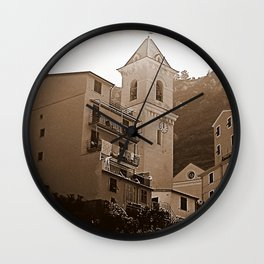 High Noon Riomaggiori Sepia Wall Clock