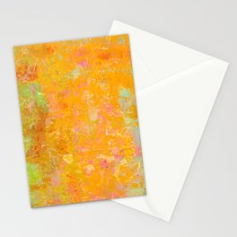 Delight, Marbled Abstract Art Painting Stationery Cards