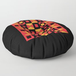 African Motif Mosaic Game Floor Pillow