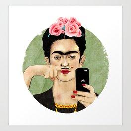 The Original Queen Of The Selfies Art Print