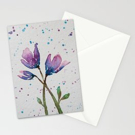 Spring Blossom I - Watercolor Flowers Stationery Cards