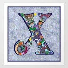 The Letter X Art Print