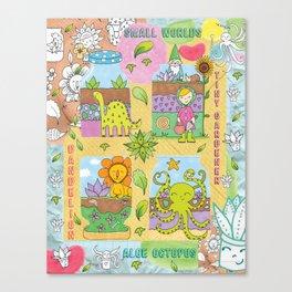Little Gardeners Canvas Print