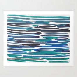 17  |  190408 Blue Abstract Watercolour Art Print
