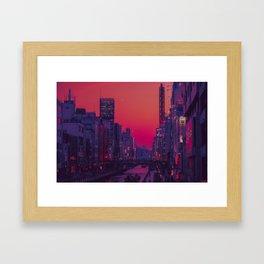Dotonbori Dusk Framed Art Print