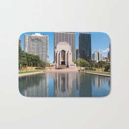 Anzac Memorial and The Pool Of Reflection, Sydney Bath Mat