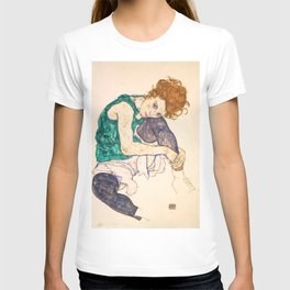 """Egon Schiele """"Seated Woman with Legs Drawn Up"""" T-shirt"""