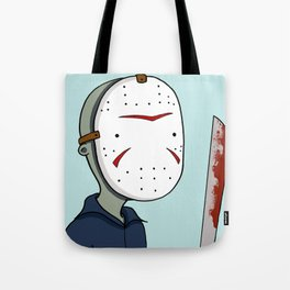 Adventure Time with Jason Voorhees Tote Bag