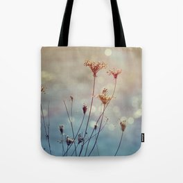 Soft Queen Anne's Lace and Bokeh Tote Bag