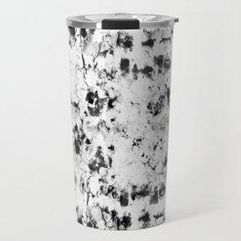 Soft rock // abstract black-and-white Travel Mug