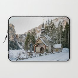 Cappella lago di Braies Laptop Sleeve