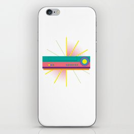 Colorful VHS Player Machine Recorder Classic Cassette Tapes Lover Gift iPhone Skin