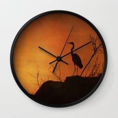 Night silhouette Wall Clock