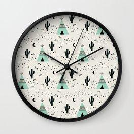 Teepee Wall Clock