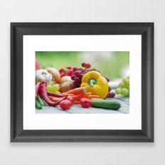 Fruits and Vegetables Variety in the kitchen Framed Art Print