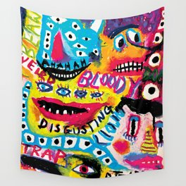Creepy Monsters Wall Tapestry