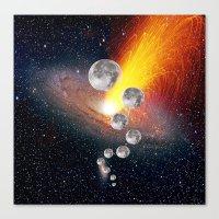 sci fi Canvas Prints featuring Sci-Fi Space Universe by  Agostino Lo Coco