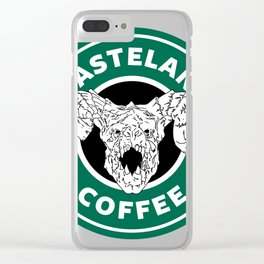 Wasteland Coffee Clear iPhone Case