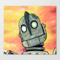 iron giant Canvas Prints featuring The Iron Giant by MSG Imaging