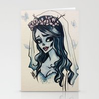 emily rickard Stationery Cards featuring Emily by Ayesha Khan