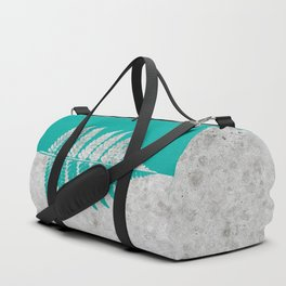 Natural Outlines - Fern Teal & Concrete #180 Duffle Bag