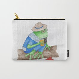 Relaxed Green Frog Carry-All Pouch