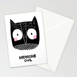 Midnight Owl Stationery Cards
