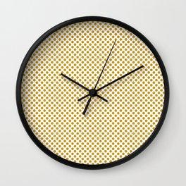 Nugget Gold Polka Dots Wall Clock