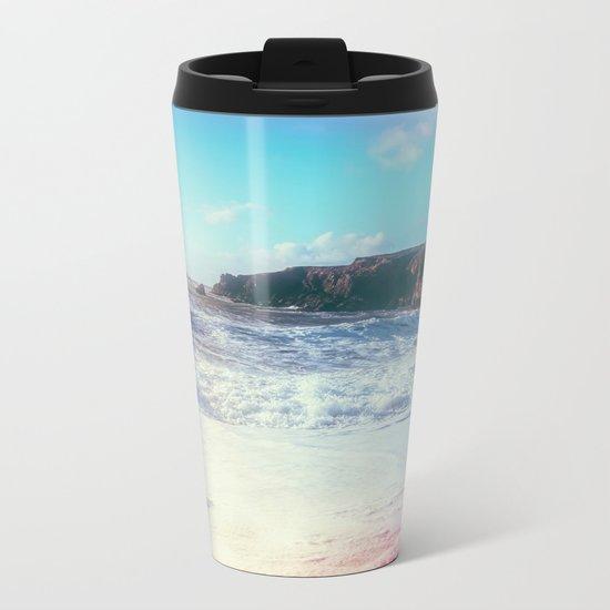 California Sunshine Waves Metal Travel Mug