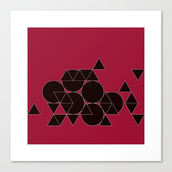 #312 Weightless construction site – Geometry Daily Canvas Print