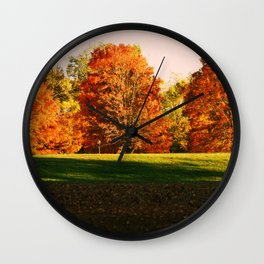 Colorful Autumn Trees Wall Clock