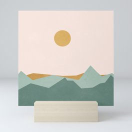 Minimal Line Scape I Mini Art Print