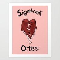 Significant Otters Art Print