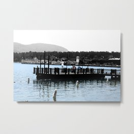Watching the Steamers Metal Print