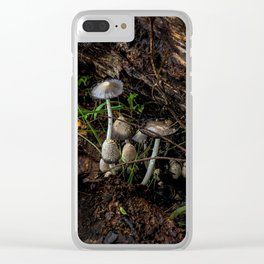 mushrooms after the rain Clear iPhone Case