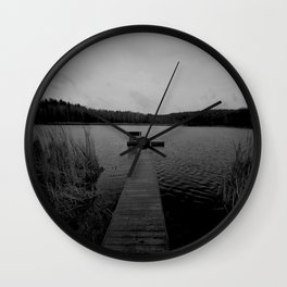 Lake Dock Wall Clock