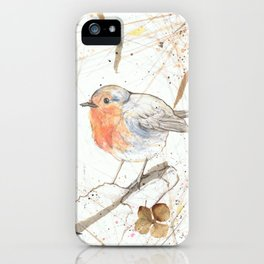 Kleine rote Vögelchen (Little red birdies) iPhone Case