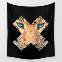 leopard Wall Tapestries featuring Leopard by Zavu