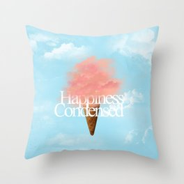Happiness Condensed Throw Pillow