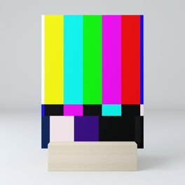 No Signal TV Mini Art Print