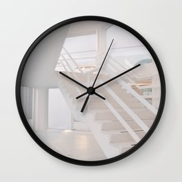 White staircase in a modern house Wall Clock