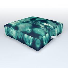 Shibori Neue Teal Outdoor Floor Cushion