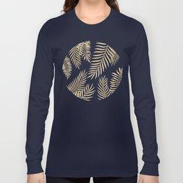 Gold palm leaves Long Sleeve T-shirt