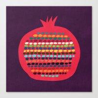 pomegranate Canvas Prints featuring Pomegranate by Picomodi