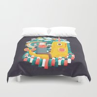 unicorn Duvet Covers featuring Unicorn by Seaside Spirit