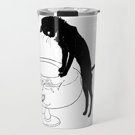 """Théophile Steinlen """"Cats: Pictures without Words (Cat and fishbowl)"""" (1) Travel Mug"""